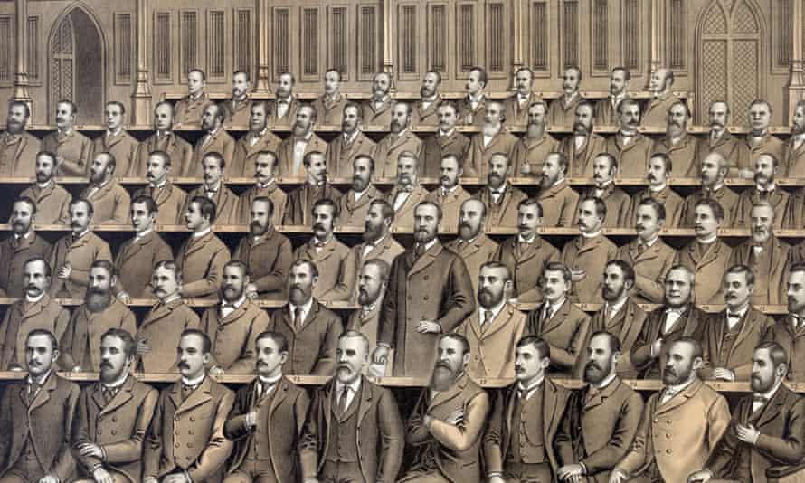Irish home rulers in Commons, 1886
