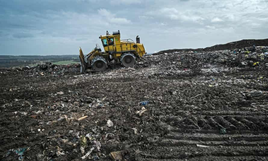 Packington landfill, near Birmingham. The UK doesn't send as much waste to landfill as it used to.