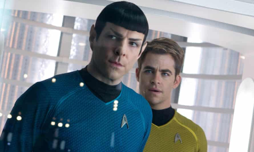 Quinto as Spock with Chris Pine (Kirk) in Star Trek: Into Darkness