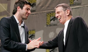 Zachary Quinto and Leonard Nimoy meet at Comic-Con 2007