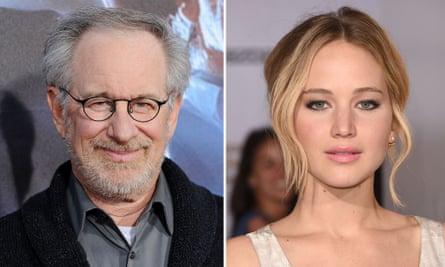 Steven Spielberg and Jennifer Lawrence