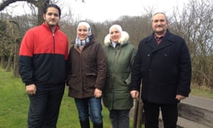 (L-R) Kinan, Leen, Amal, and Yahia, photographed in Brodersby, northern Germany.
