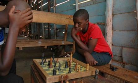 Phiona Mutesi, 15, who is perhaps the best female chess player in Uganda.