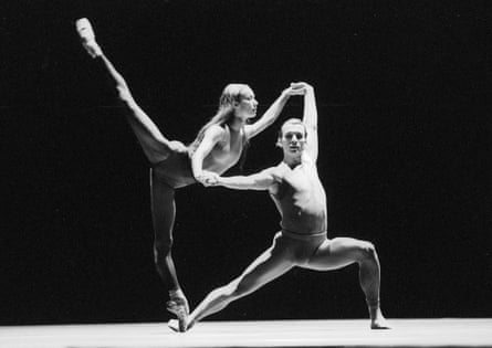 Sylvie Guillem and Laurent Hilaire in In The Middle Somewhat Elevated. Photograph: Tristram Kenton for the Guardian