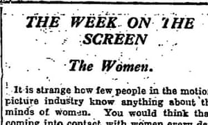 CA Lejeune's The Week on the Screen: The Women (16 January 1926). Read the full column here.