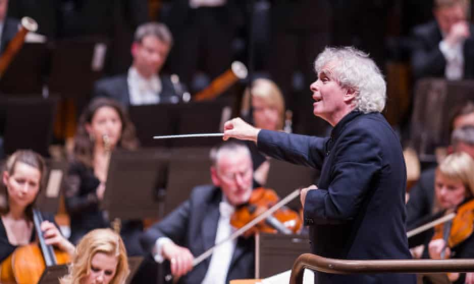 Sir Simon Rattle conducts the London Symphony Orchestra.