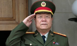General Guo Boxiong before a meeting at the Pentagon in 2006.