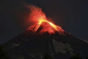 The Villarica volcano erupted near Pucon, southern Chile, in the early hours Tuesday, March 3 , 2015, according to the National Emergency Office, which issued a red alert