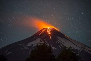Lava creeps down the side of Villarrica