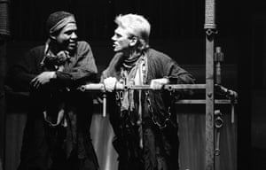 Hugh Quarshie and Gerard Murphy in The Two Noble Kinsmen at the RSC, 1986