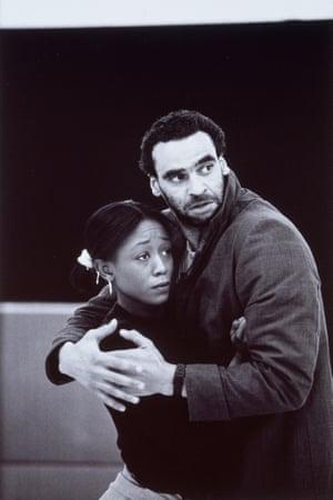 Ben Thomas and Diane Parish rehearsing Talawa Theatre Company's King Lear, 1994