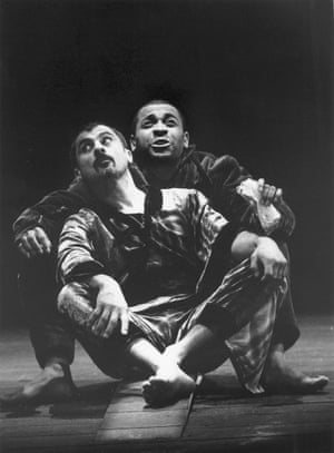 Vincent Abraham and David Baker in A Midsummer Night's Dream at the Lyric Hammersmith, 1997