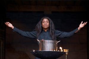 Karen Bryson in Globe Education's Macbeth at Shakespeare's Globe, 2010