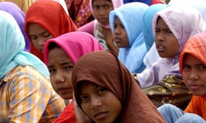 Indonesian girls in Aceh Besar district