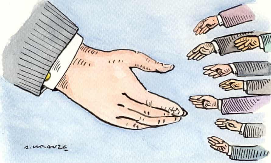 Andrzej Krauze illustration, on business ethics