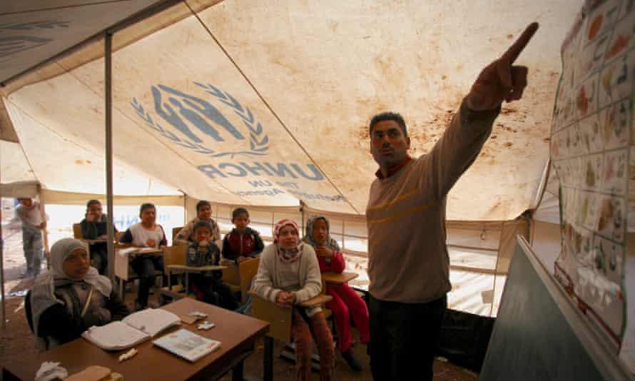Syria refugee camp school