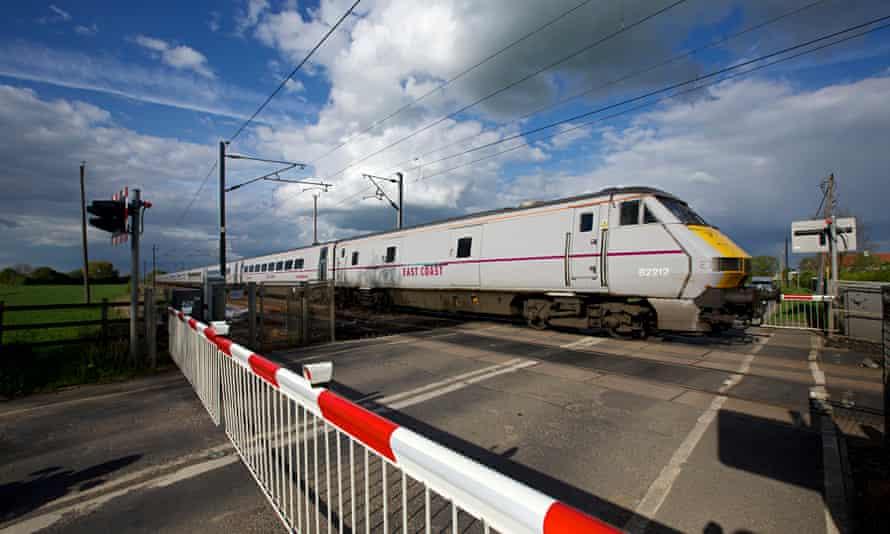East coast mainline train