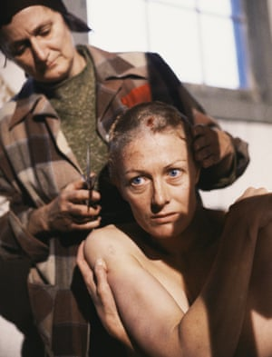 Vanessa Redgrave has her head shaved in a scene from Playing for Time. Photograph: CBS Photo Archive/Getty Images