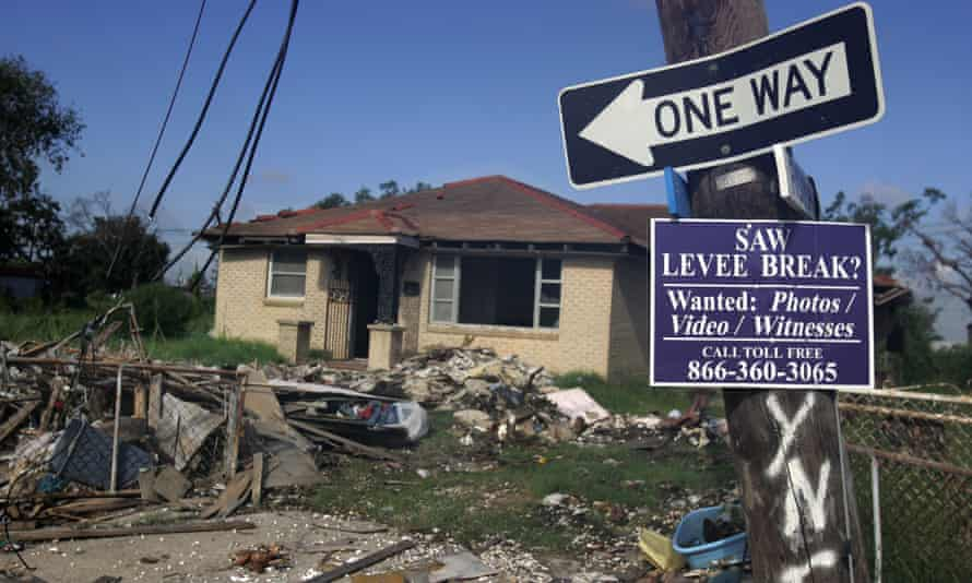 A destroyed home in the Lower Ninth Ward in 2006, a year after the area was hit by Hurricane Katrina.