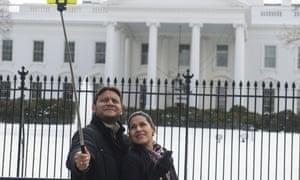selfie stick white house