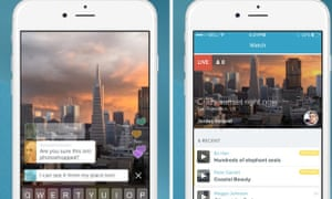 Twitter's new Periscope app for iPhone.