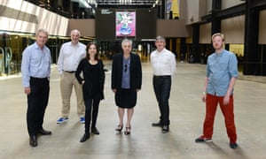 Alex Graham (second left) and Ruth Mackenzie (centre) at the relaunch of The Space at the Tate Modern in June 2014.