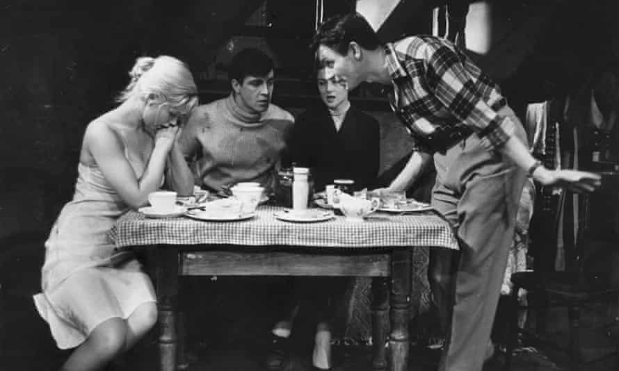 History in the Making … Kenneth Haigh (right) as Jimmy Porter, with Helena Hughes, Alan Bates and Mary Ure