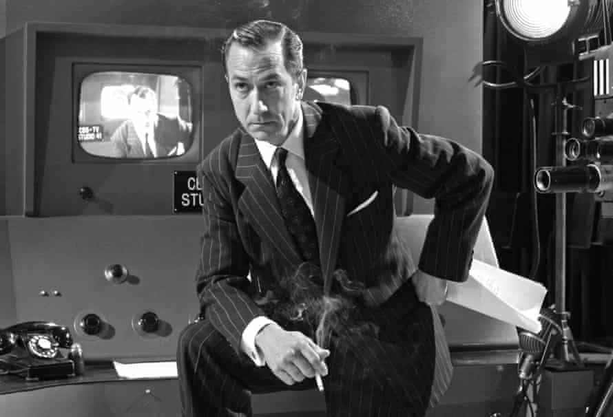 David Strathairn as Edward R Murrow in Good Night, and Good Luck.