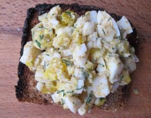 Simon Hopkinson' devilled eggs.