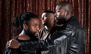 'Genre-defying': Kayus Bankole, Graham 'G' Hastings and Alloysious Massaquoi of Young Fathers. Photograph: Katherine Anne Rose for the Observer