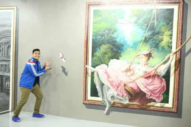 Fragonard's The Swing, as interpreted by Manila's Art in Island museum.