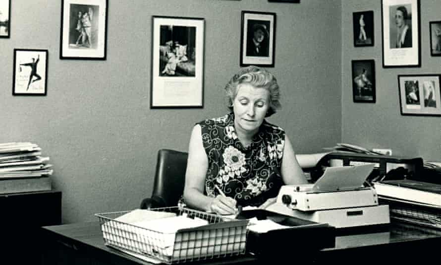Mary Clarke in her office at Dancing Times in the late 1970s. Photograph: Dancing Times
