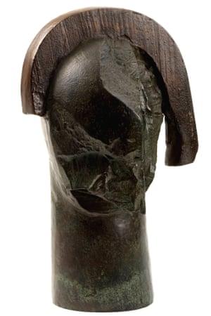 Robert Clatworthy: Head 111, 1990, bronze
