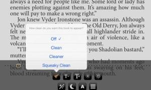 The Clean Reader app