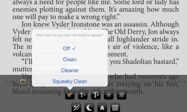 The Clean Reader app