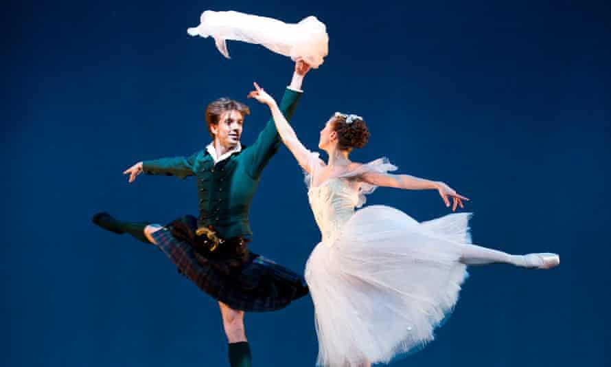 Ulrik Birkkjaer (James) and Gudrun Bojesen (Sylph) in La Sylphide from the Bournonville Celebration by Royal Danish Ballet.