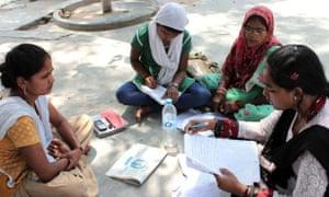 An editorial meeting in Faizabad