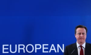 David Cameron after a European council meeting in Brussels. 'No one thinks he's credible,' says the director of the Centre for European Reform thinktank.