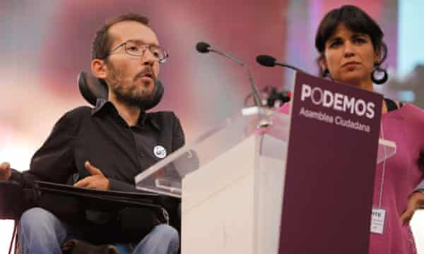 Pablo Echenique got involved with Podemos via its regional 'circles', and was elected as an MEP in 2014.