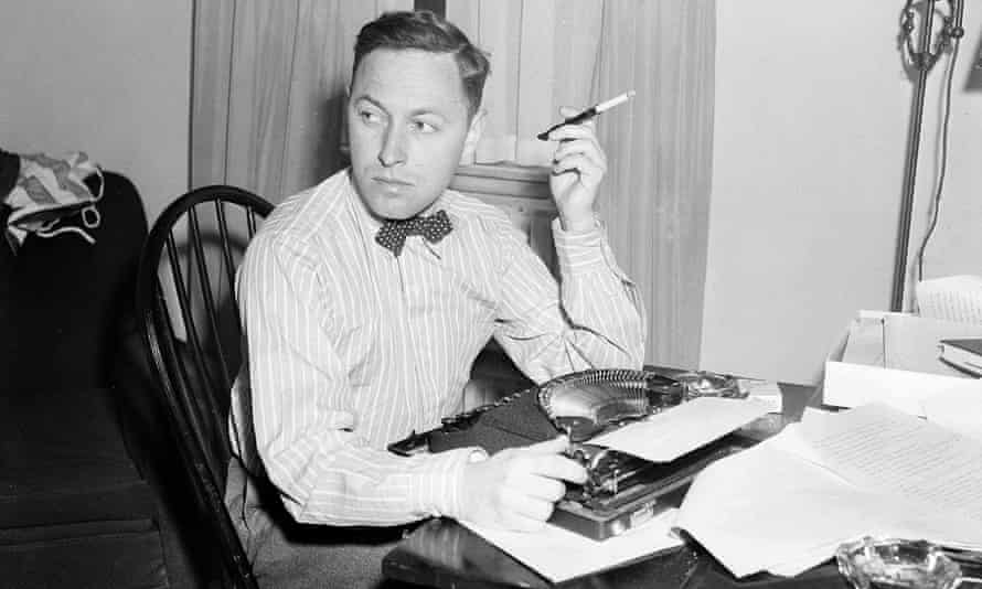 Tennessee Williams at his typewriter in New York.
