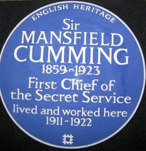 Mansfield Cumming plaque English Heritage