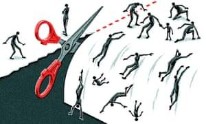 Matt Kenyon illustration on tory law of benefit cuts