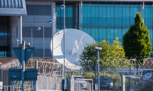 Satellite dish at GCHQ monitoring centre in Cheltenham. Alex Younger claimed its collection and use of data 'appropriately and proportionately' is essential.