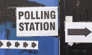 A polling station in Tower Hamlets.