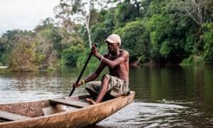 Fisherman in Kribi, Cameroon