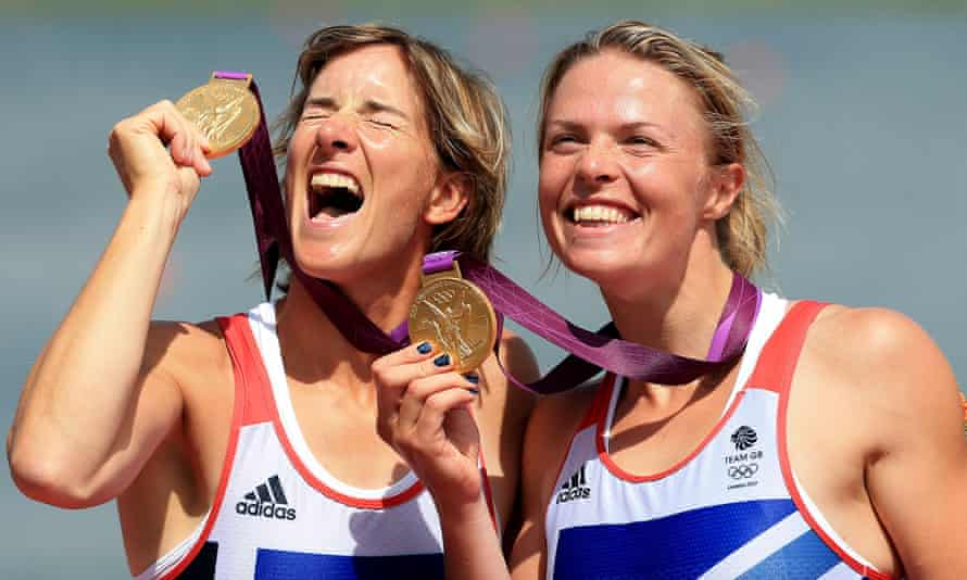 Katherine Grainger (left) and Anna Watkins took gold in the double sculls at London 2012.