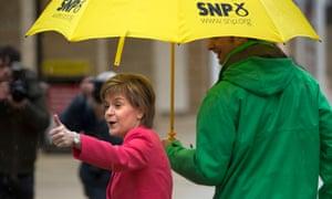 SNP leader Nicola Sturgeon on the campaign trail