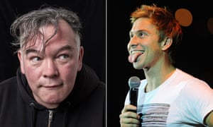 Comedians Stewart Lee, left, and Russell Howard