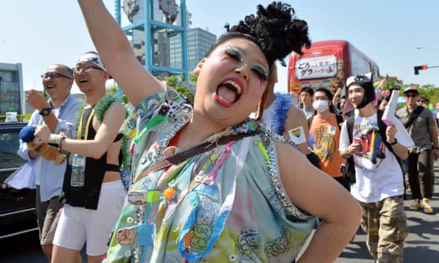 LGBT supporters in the Tokyo Rainbow Pride parade in 2014.