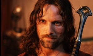 Viggo Mortensen as Aragorn in Lord of the Rings: Two Towers.